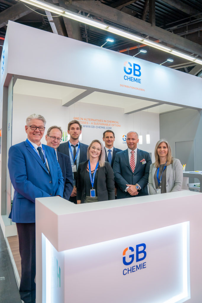 Häffner-Gruppe am Mesestand der ECS 2019