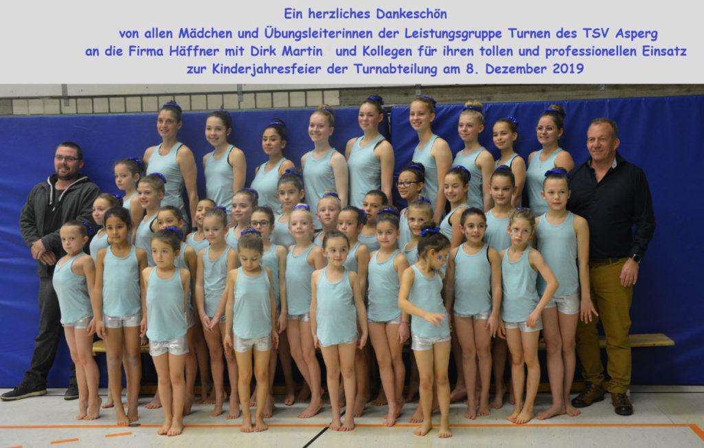 Leistungsgruppe Turnen des TSV Asperg