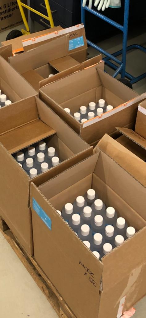 Herstellung von 10.000l Desinfektinosmittel Dank Ethanol von Häffner